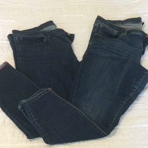 2 pairs Gap jeans.